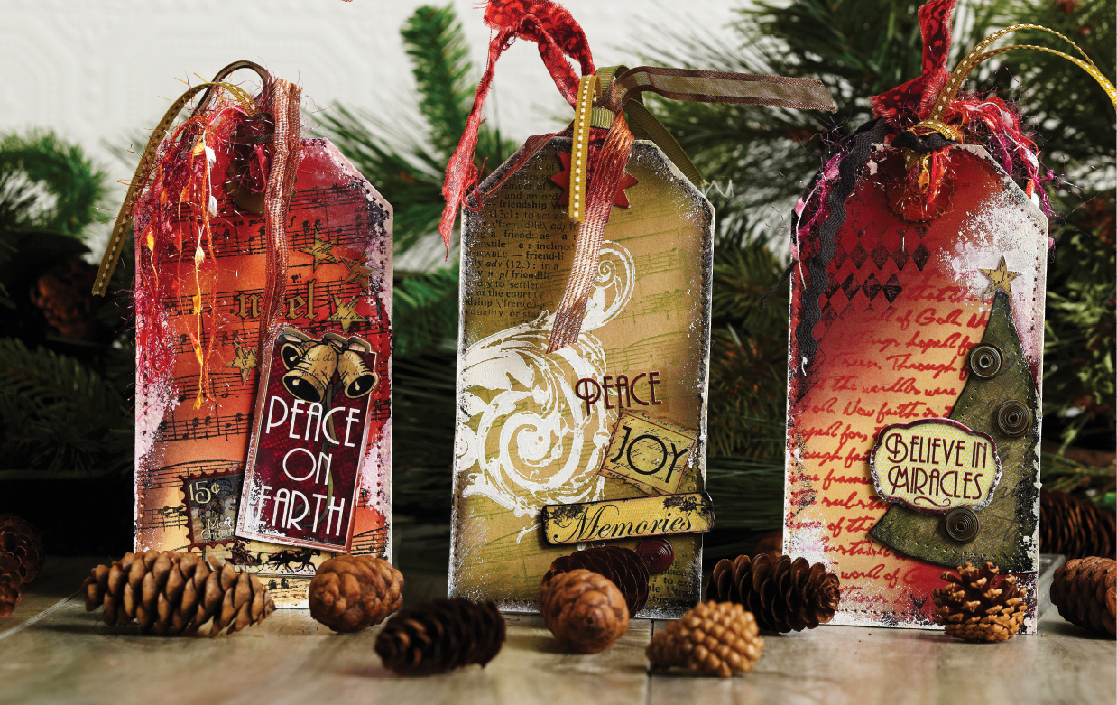 Christmas Tags Designed by Christy Riopel | Creative Scrapbooker Magazine #christmas #tags #scrapbooking #rememberingchristy