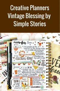 Creative Planners Featuring Simple Stories Vintage Blessing Collection | Designed by Leah O'Neil | Creative Scrapbooker Magazine #scrapbooking #planners #simplestories