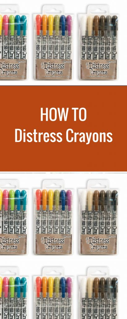 Ideas to use your Ranger Distress Crayons | Creative Scrapbooker Magazine  #scrapbooking #distresscrayons