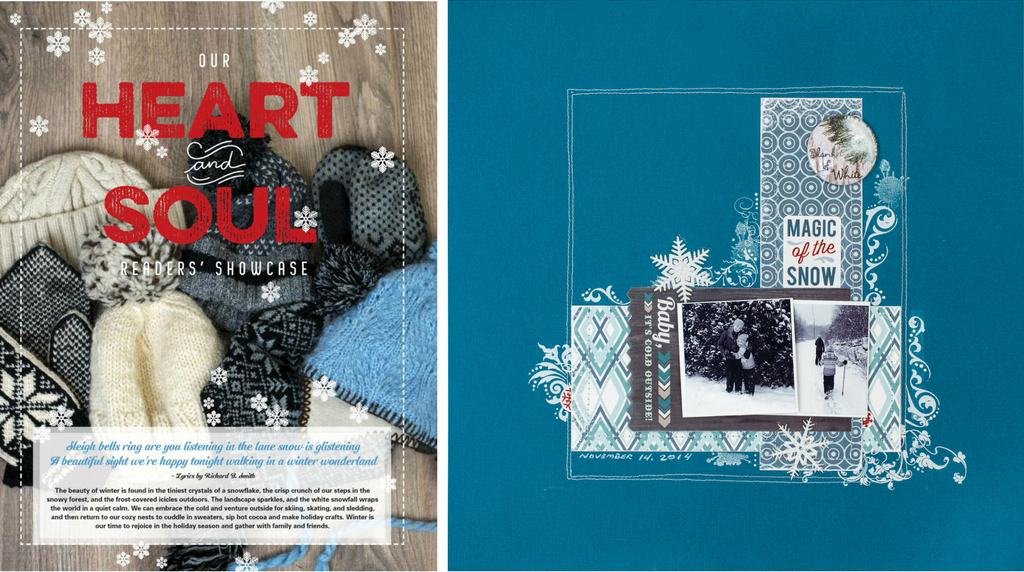Winter 2017/18 Creative Scrapbooker Magazine | Heart and Soul Gallery #scrapboking #magazine