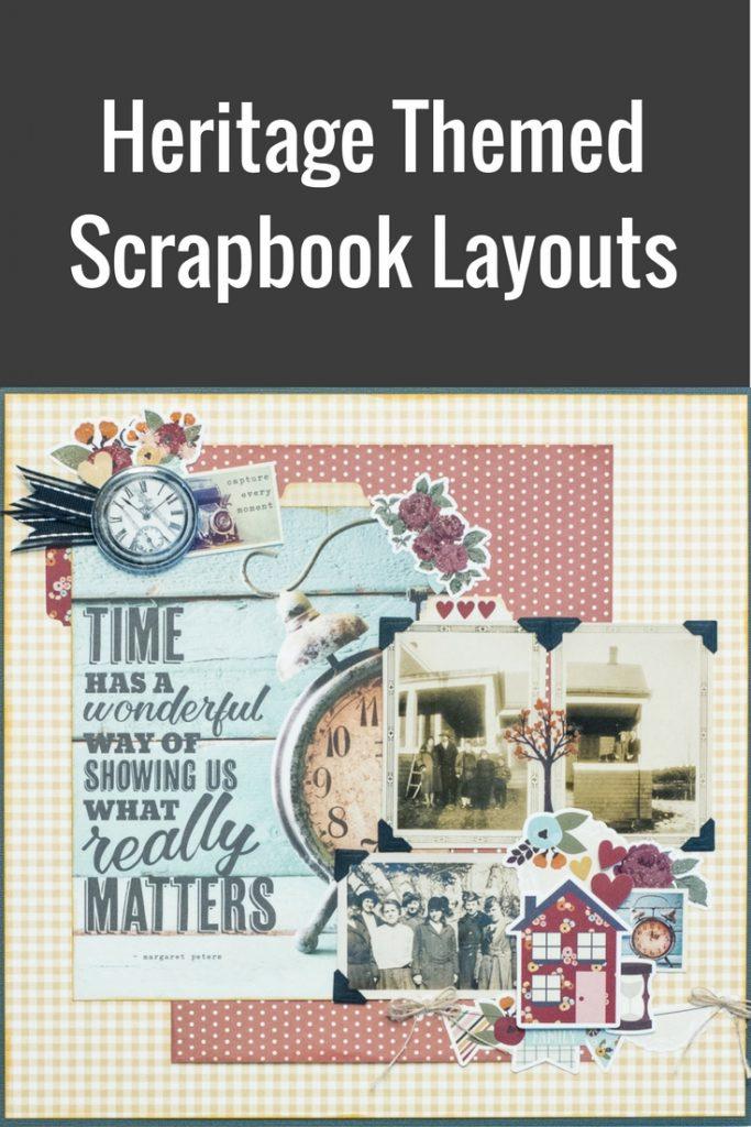 Heritage Themed Scrapbook Layout | Featuring Simple Stories | Designed by Kim Gowdy | Creative Scrapbooker Magazine #heritage #scrapbooking