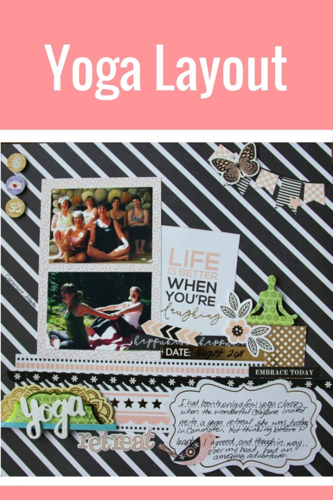 Scrapbook Layout Featuring Paper House Productions Be Happy Collection   Designed by Jayme Loge   Creative Scrapbooker Magazine #scrapbooking #paperhouseproductions