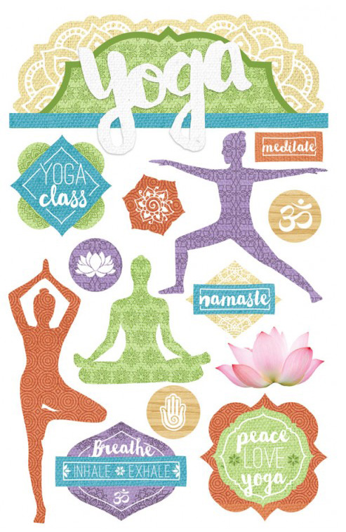 Paper House Productions Yoga Stickers