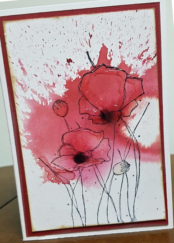Remembrance Day Card | Designed by Karen Ellis | Creative Scrapbooker Magazine #remembranceday #scrapbooking #cardmaking