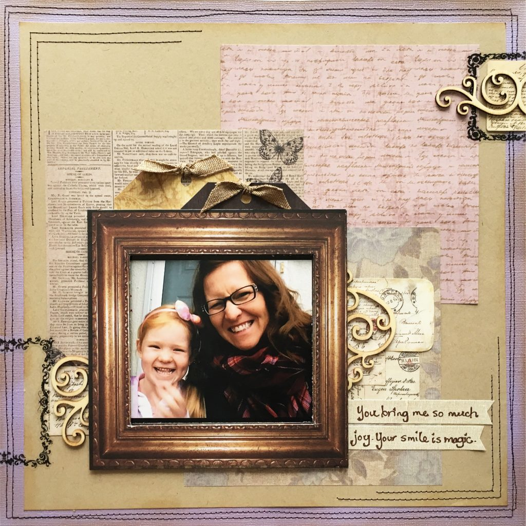 Scrapbook Layout featuring MultiCraft Products | Designed by Nadine Wachter | Creative Scrapbooker Magazine #scrapbooking #12X12layout