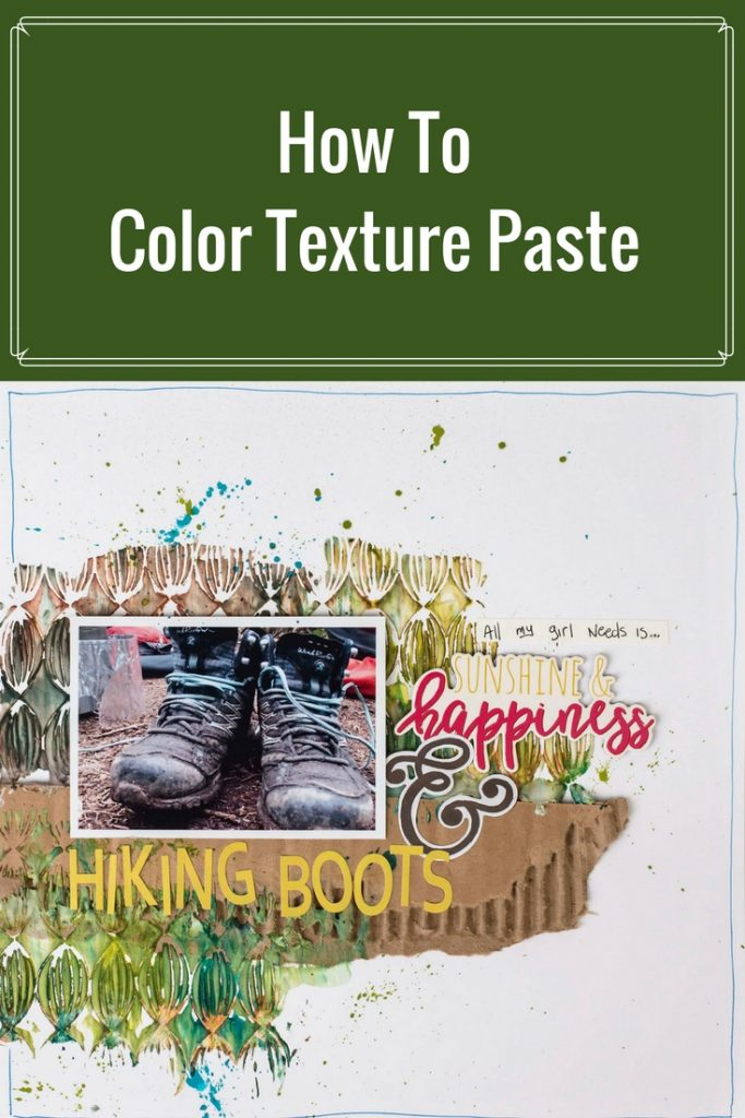 Scrapbook Layout Designed by Christy Riopel featuring Ranger Texture Paste and Distress Spray Stain | Creative Scrapbooker Magazine #scrapbooking #rememberingchristy