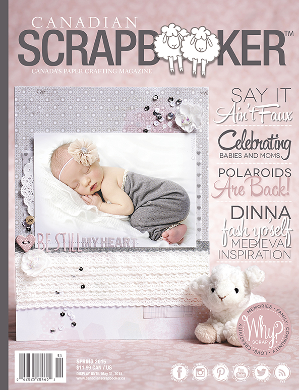 Spring 2015 Issue of Creative Scrapbooker Magazine