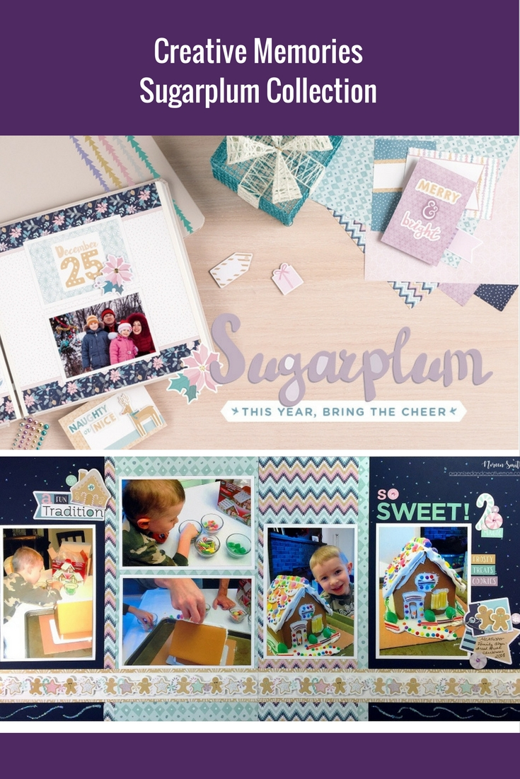 Double Page Layout featuring the Sugarplum Collection from Creative Memories | Designed by Noreen Smith | Creative Scrapbooker Magazine  #scrapbooking #doublepagelayouts