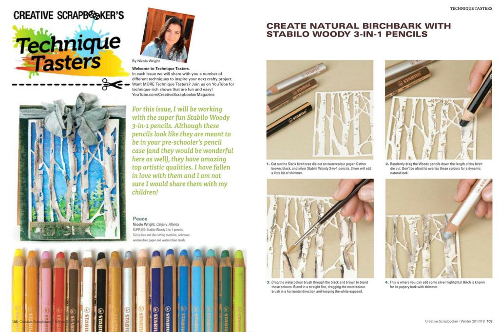 Winter 2017/18 Creative Scrapbooker Magazine | Technique Tasters #scrapboking #magazine