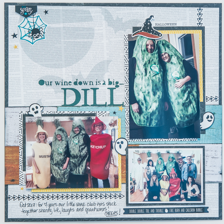 CSM Scrapbook Spotlight on Creative Memories / Halloween layout using Toil & Trouble collection