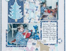 CSM Spotlight on Creative Memories / Scrapbooking with the Sugarplum collection / Christmas layout