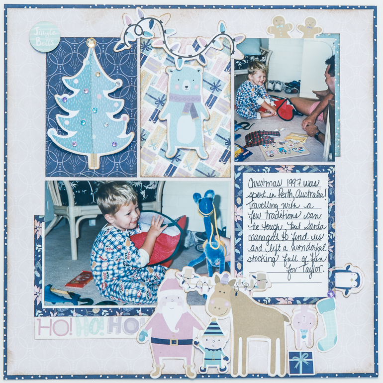 CSM Scrapbook Spotlight on Creative Memories / Scrapbooking with the Sugarplum collection / Christmas layout