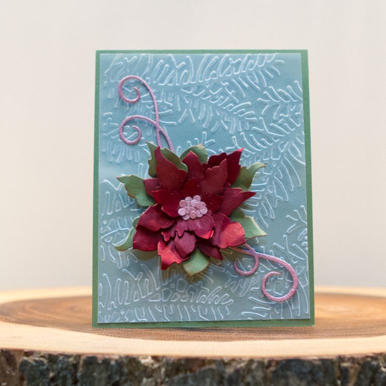CSM Spotlight on Elizabeth Craft Designs / Christmas card ideas using dies cuts and embossing folders / embossing on vellum