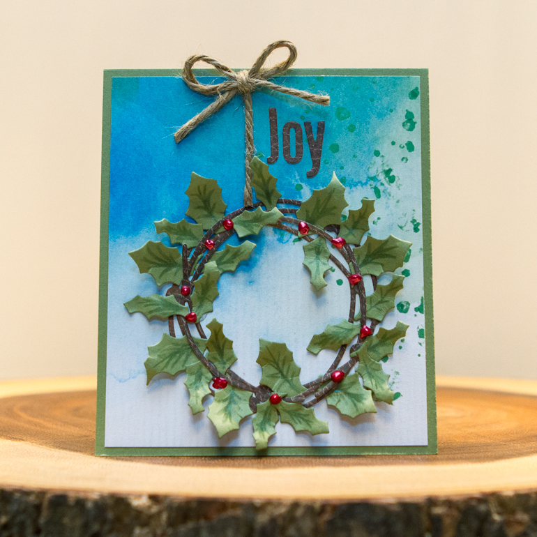 CSM Spotlight on Elizabeth Craft Designs / Christmas card using die cuts