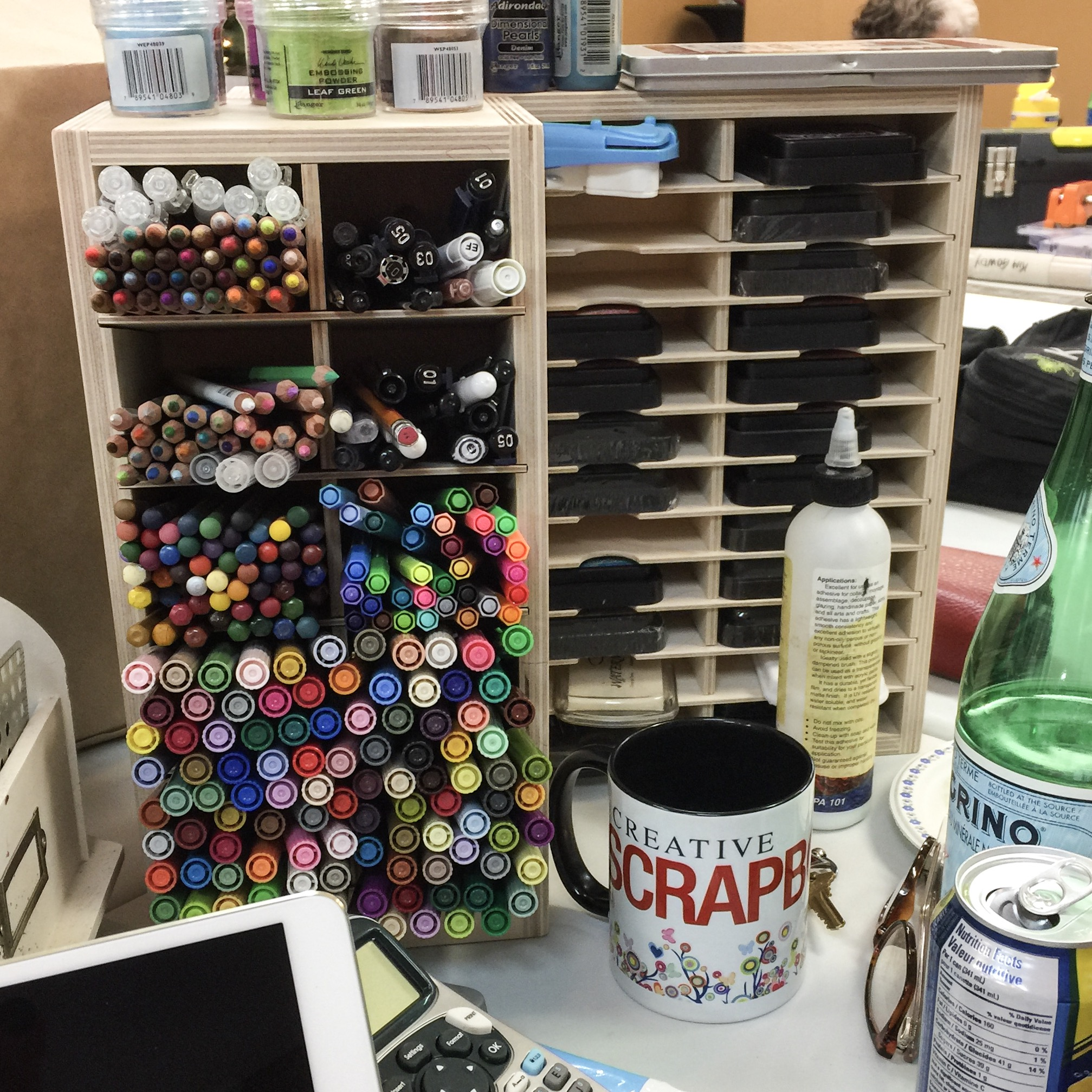 Where You Create / Packing for a retreat / organize on the go / scrapbooking supplies / pen and ink storage