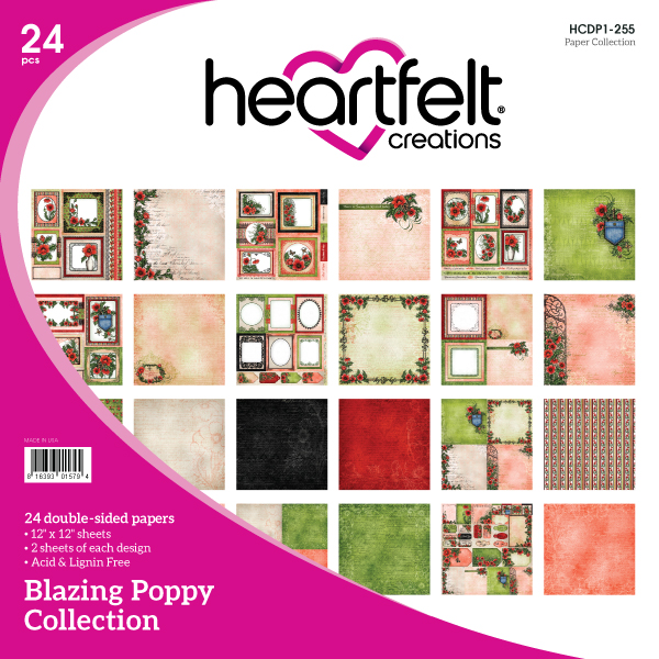 Blazing Poppy Collection by Heartfelt Creations