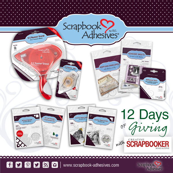 12 Days of Giving | Christmas Giveaway | Creative Scrapbooker Magazine | Featuring Scrapbook Adhesives by 3L