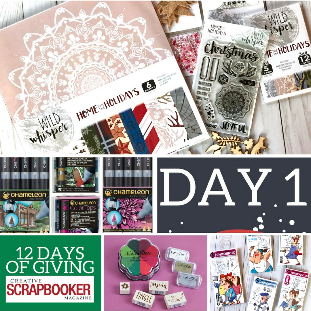 12 Days of Giving | Win Prizes from Wild Whisper Designs, Art Impressions, Chameleon Pens and Clearsnap | Creative Scrapbooker Magazine #christmas #givewaways #12days
