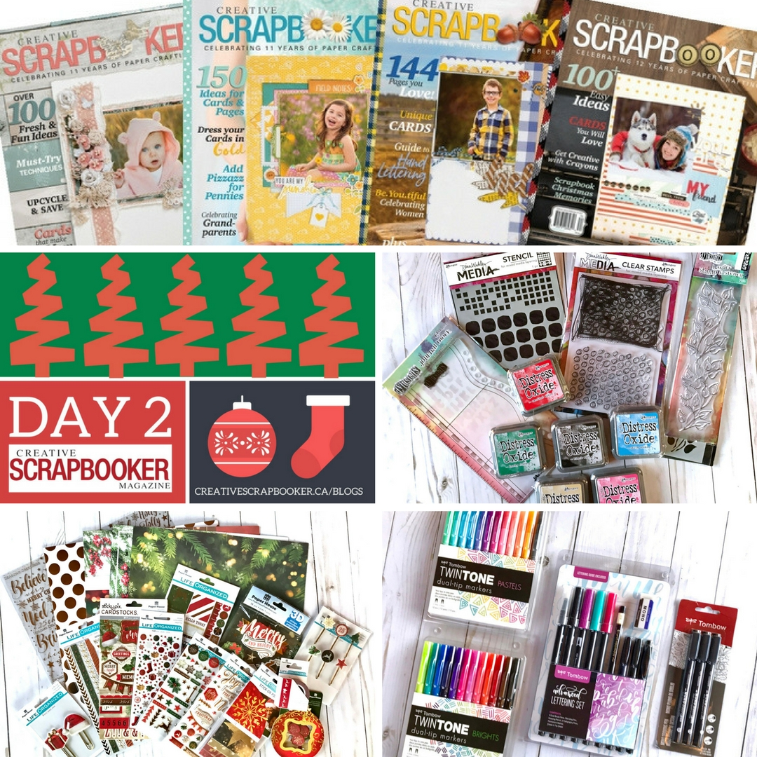 12 Days of Giveaways | Win Prizes from Creative Scrapbooker Magazine, Ranger, Tombow and Paper House Productions | Creative Scrapbooker Magazine | Visit our blog to enter to win #scrapbooking #giveaways #christmas #12Days