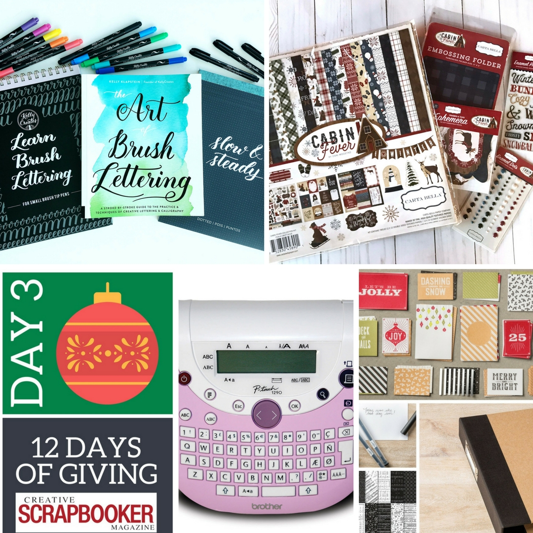 12 Days of Giving | Win Prizes from Kelly Creates, Brother Canada, Stampin' Up! and Echo Park Paper Co.| Creative Scrapbooker Magazine #christmas #givewaways #12days