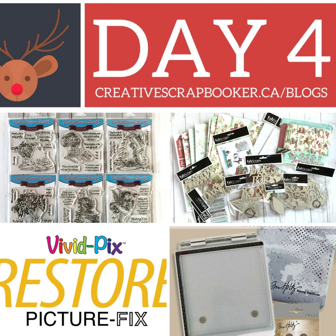 12 Days of Giving featuring prizes from Kraftin' Kimmie Stamps, FabScraps, Treasured Memories and Shop The Hound | Creative Scrapbooker Magazine | WIN WIN WIN #12Days #giveaways #christmas