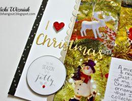 Christmas Ornament themed Scrapbook Layout featuring Close To My Heart   Designed by Vicki Wizniuk   Creative Scrapbooker Magazine #scrapbooking #12X12layout #christmas