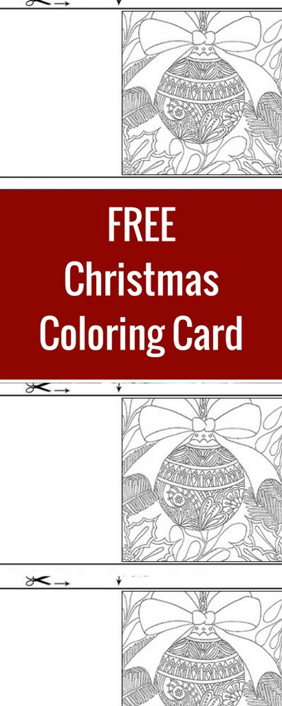 FREE Christmas Coloring Card | Designed by Betty Hung | Featuring Tombow | Creative Scrapbooker Magazine  #coloring #adult #christmas