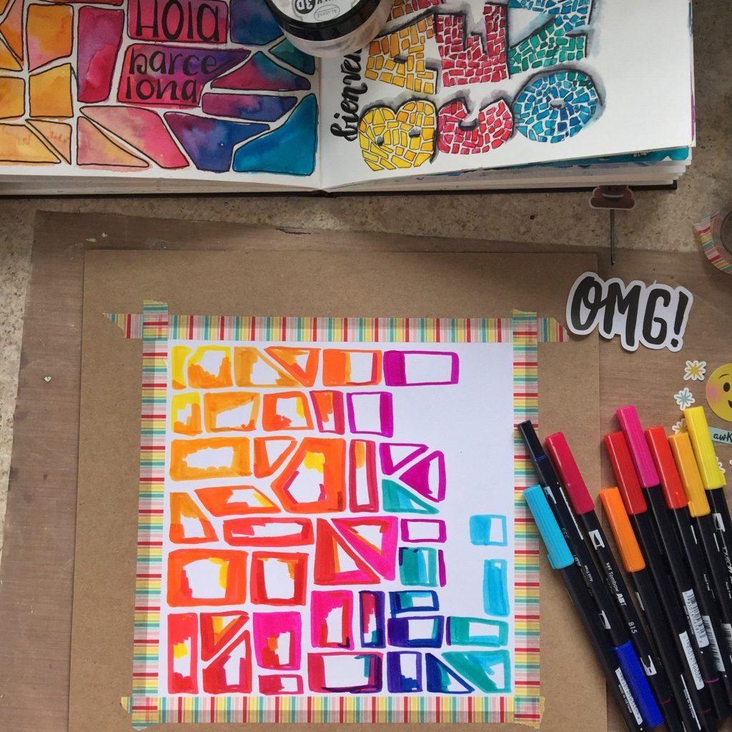 Tombow Dual Brush Pens   Layout Designed by Kerry Engel   Creative Scrapbooker Magazine  #scrapbooking #tombow