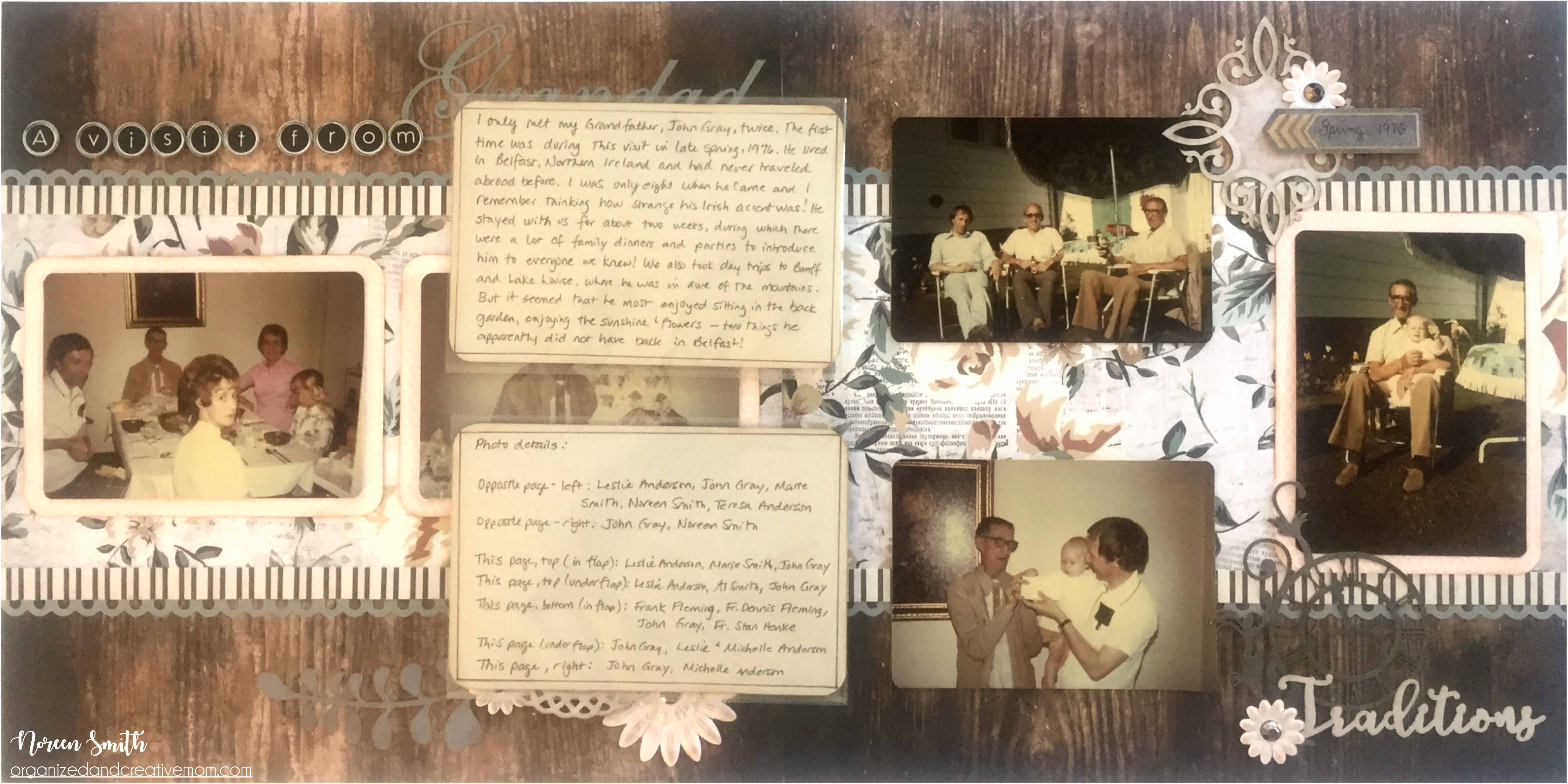 Archiver's Collection by Creative Memories | Layout Designed by Noreen Smith | Creative Scrapbooker Magazine #scrapbooking #creativememories