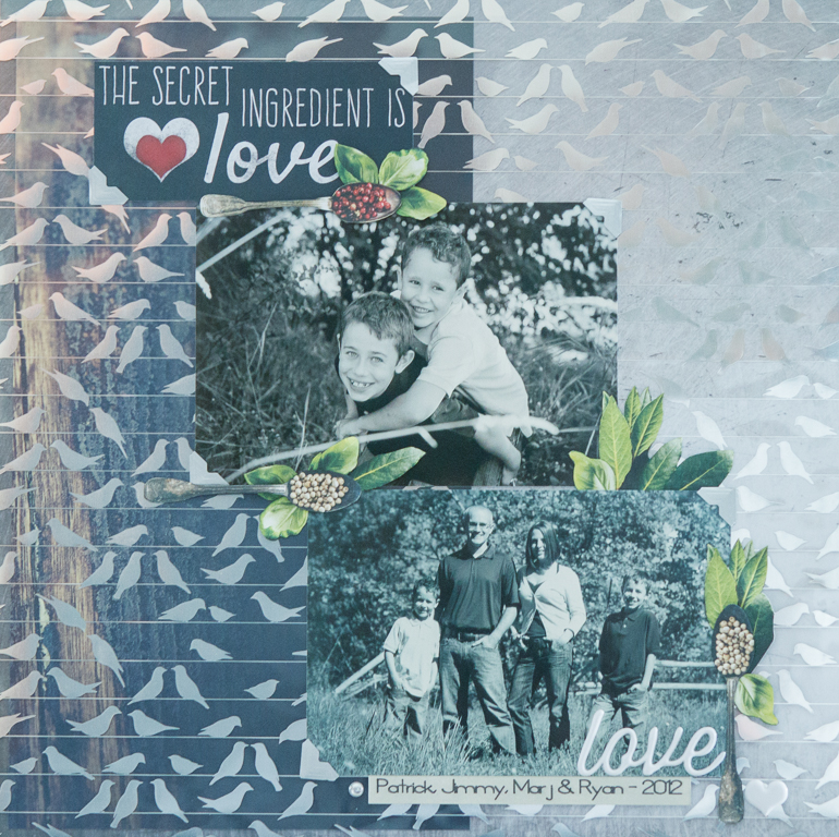 Creative Scrapbooker Magazine / Layout using Paper House Productions / Layout by Kim Gowdy