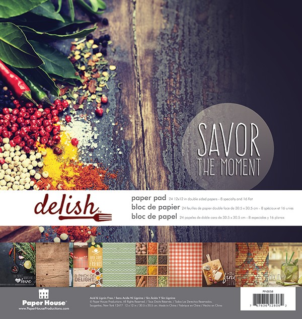 """Creative Scrapbooker Magazine Tuesday with the Team / Kim Gowdy creates with Paper House Productions collection / Delish 12"""" Paper Pad"""