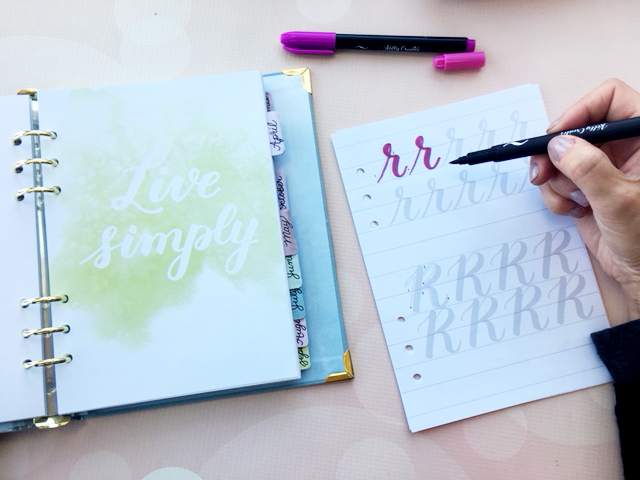 Learn brush lettering with kelly creates products by american