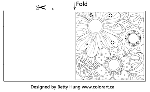 Free Coloring Card | Designed by Betty Hung | Creative Scrapbooker Magazine #coloring #scrapbooking