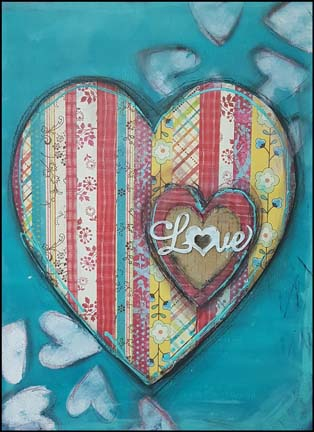 Wood Canvas featuring Dina Wakley products for Ranger | Designed by Karen Ellis | Creative Scrapbooker Magazine #dinawakley #canvas #mixedmedia