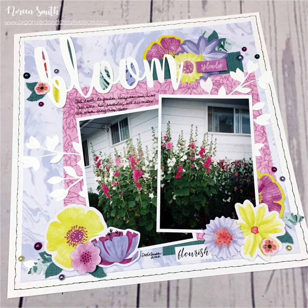 Full Bloom Collection by Creative Memories | Layout designed by Noreen Smith | Creative Scrapbooker Magazine #scrapbooking #creativememories