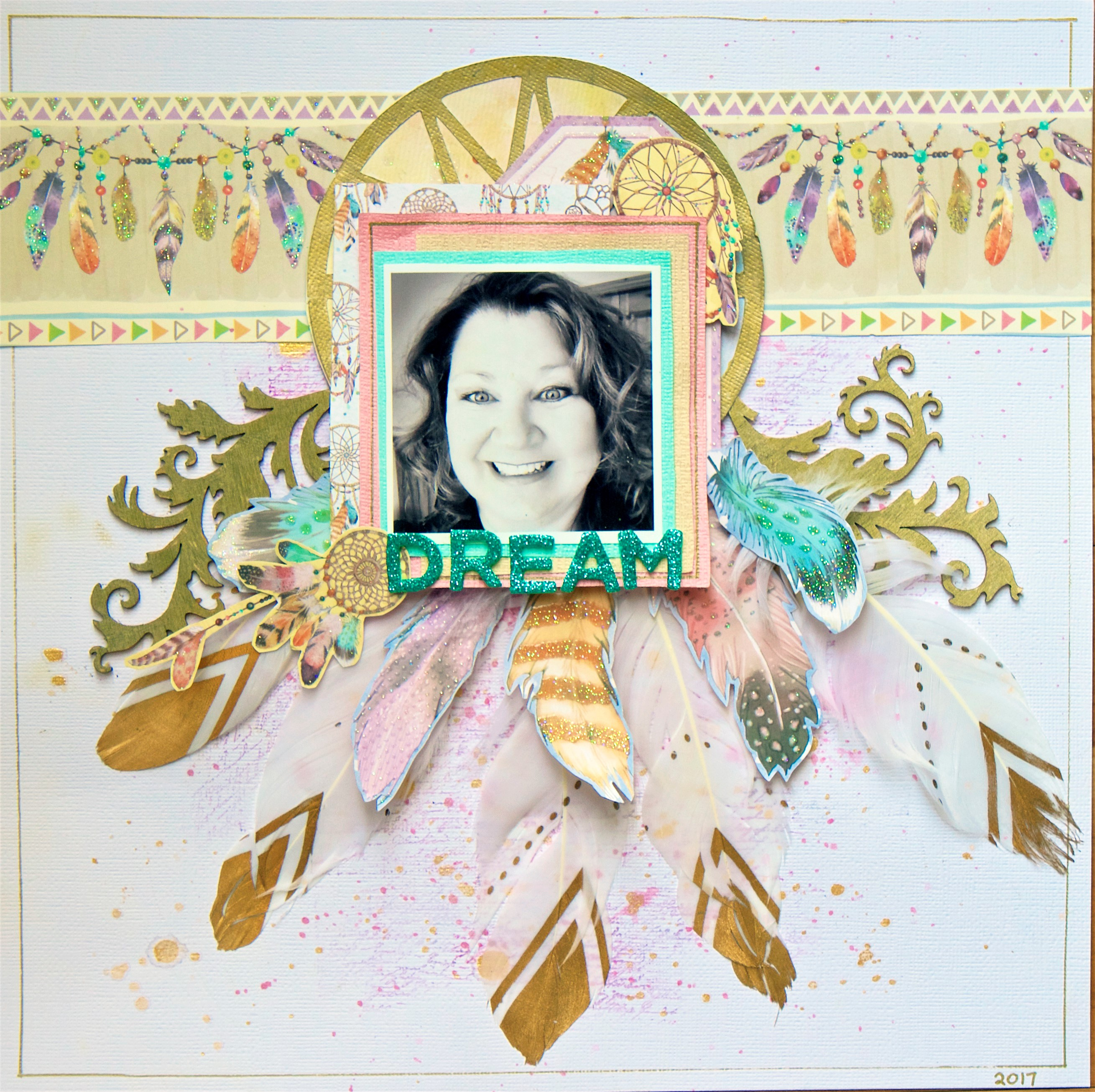 Scrapbook Layout Designed by Lee-Anne Thornton featuring MultiCraft | Creative Scrapbooker Magazine