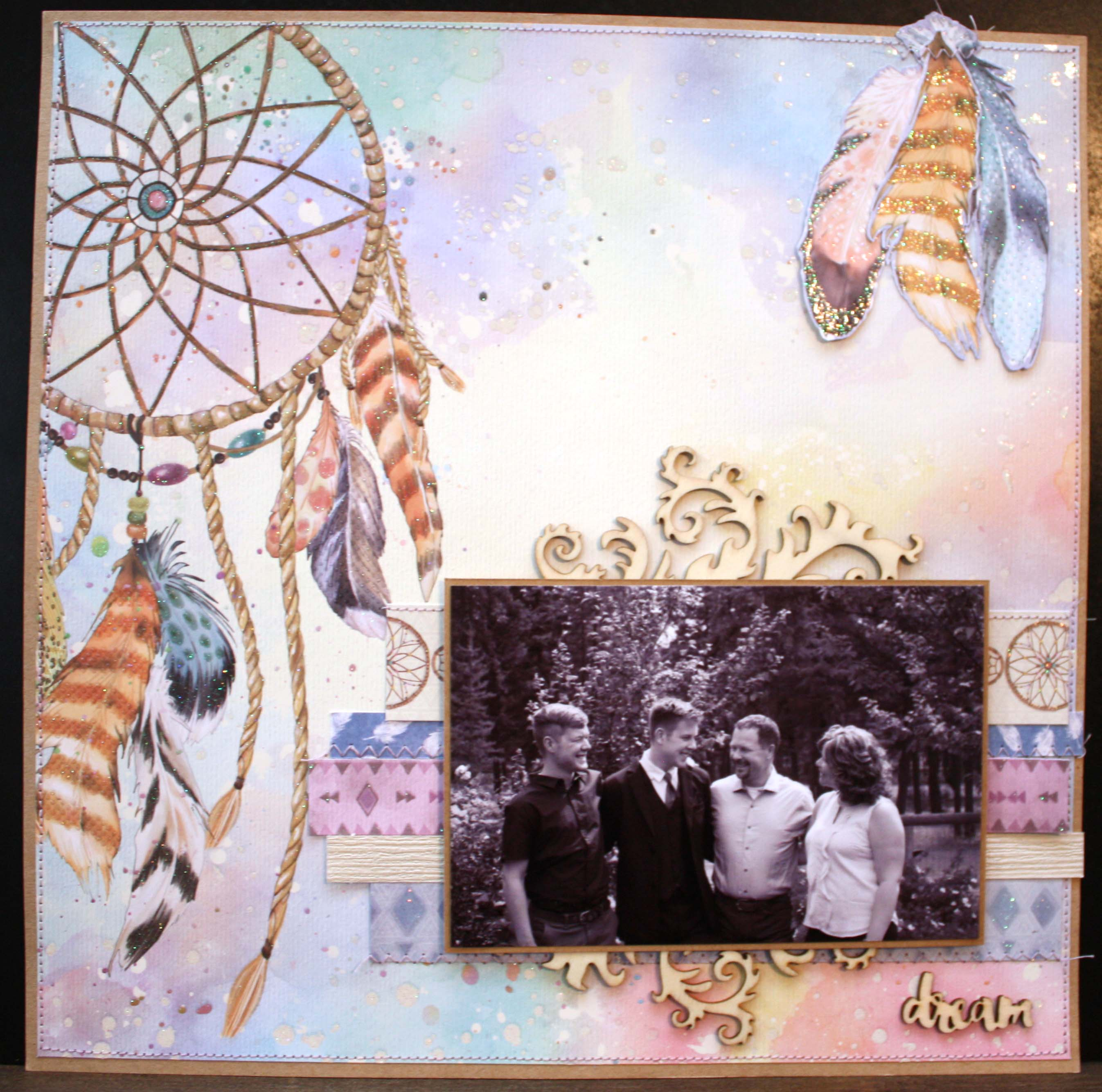 Scrapbook Layout Designed by Tammy Hawes featuring MultiCraft | Creative Scrapbooker Magazine