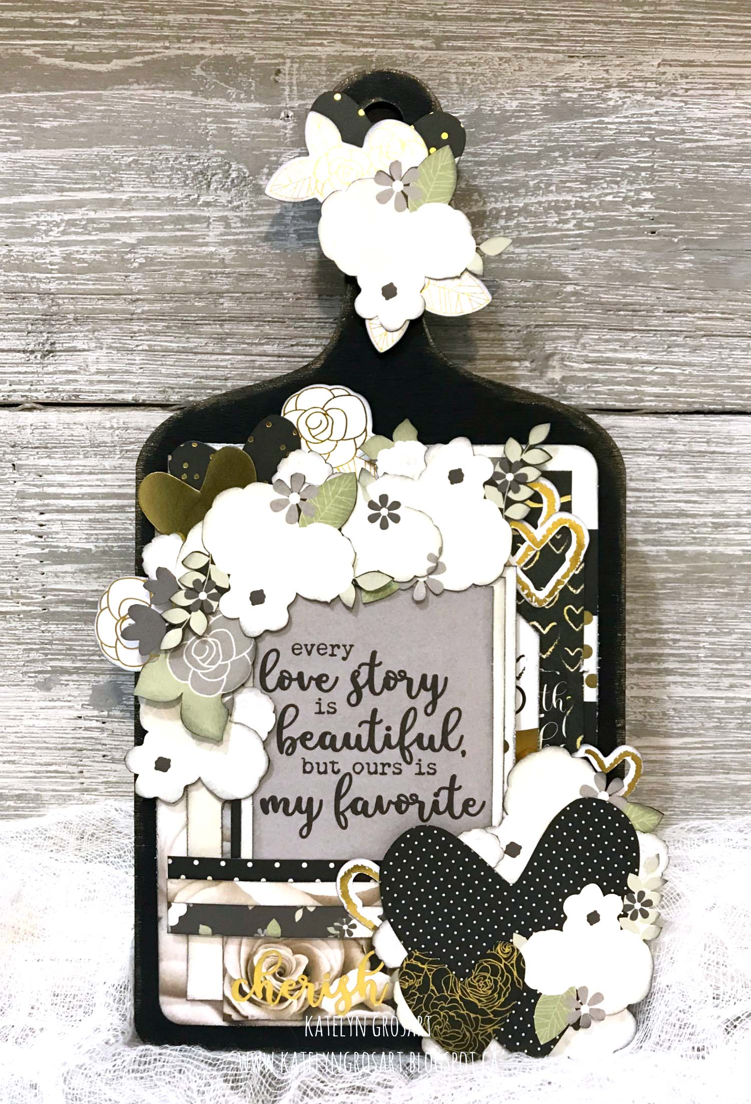 Wall Hanging designed by Katelyn Grosart featuring the Always & Forever Collection by Simple Stories | Creative Scrapbooker Magazine