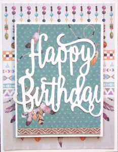Scrapbook Card designed by Tammy Hawes featuring MultiCraft | Creative Scrapbooker Magazine