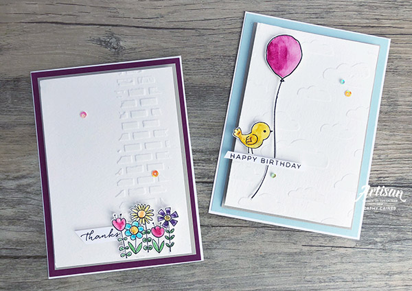 Card designed by Cathy Caines featuring the Garden Girl stamp set by Stampin' Up! | Creative Scrapbooker Magazine