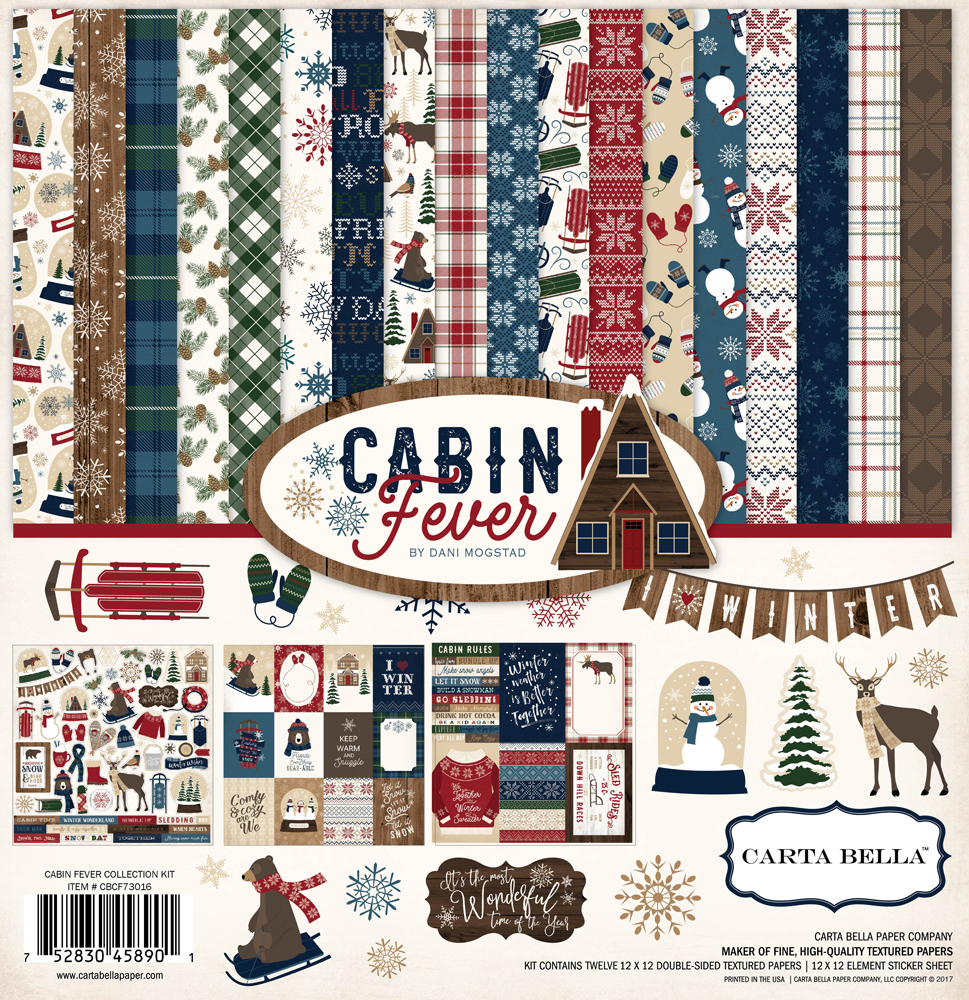 Carta Bella / Cabin Fever collection / Creative Scrapbooker Magazine's Tuesday With the Team / scrapbooking layout