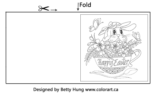 Easter Free Coloring Card | Designed by Betty Hung | Creative Scrapbooker Magazine