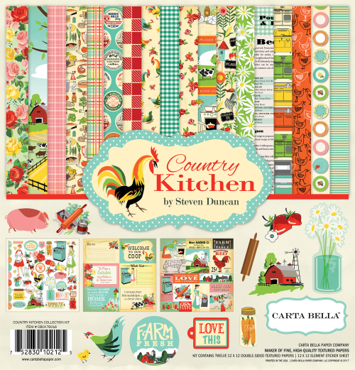 Carta Bella for Echo Park Paper Co. patterned paper and stickers