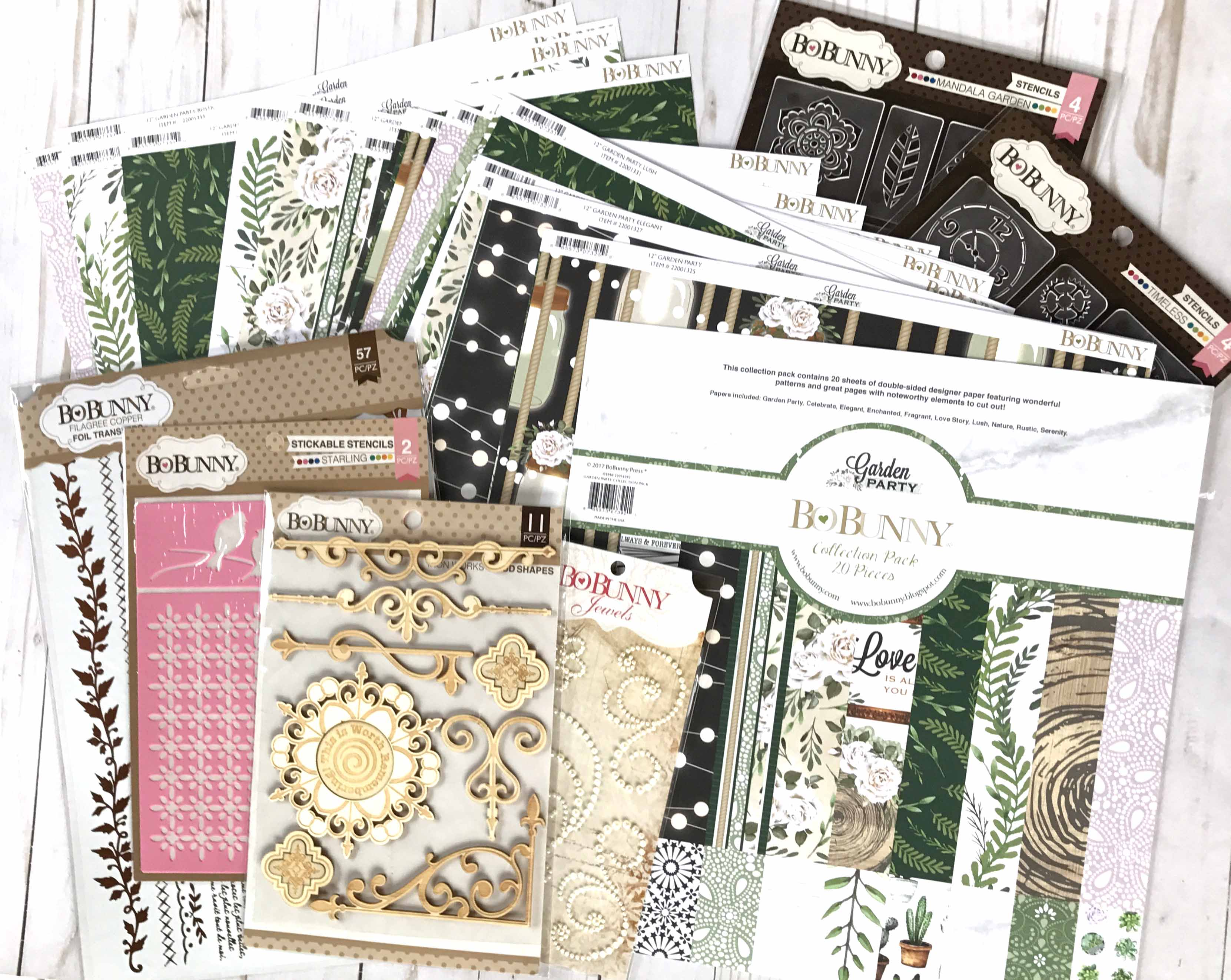 Garden Party Collection by BoBunny   Creative Scrapbooker Maghazine