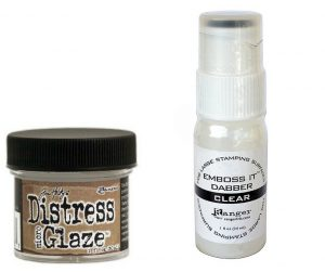Ranger Distress Glaze and Emboss-it Dabber | Creative Scrapbooker Magazine
