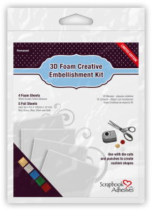 Scrapbook Adhesives by 3L 3D Foam Creative Embellishment Kit