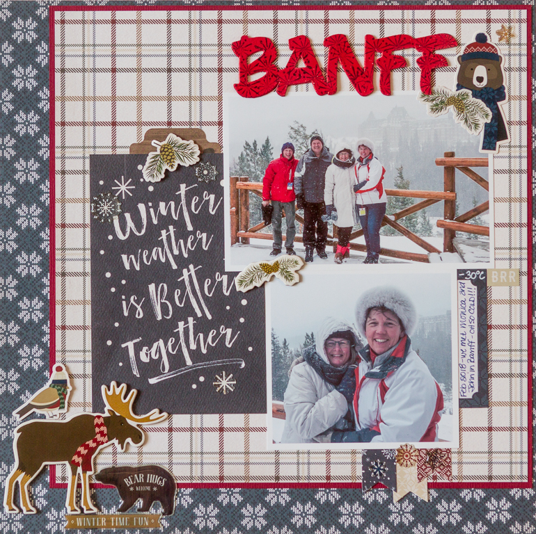 Tuesday With the Team / Creative Scrapbooker Magazine / Kim Gowdy / Cabin Fever collection by Carta Bella