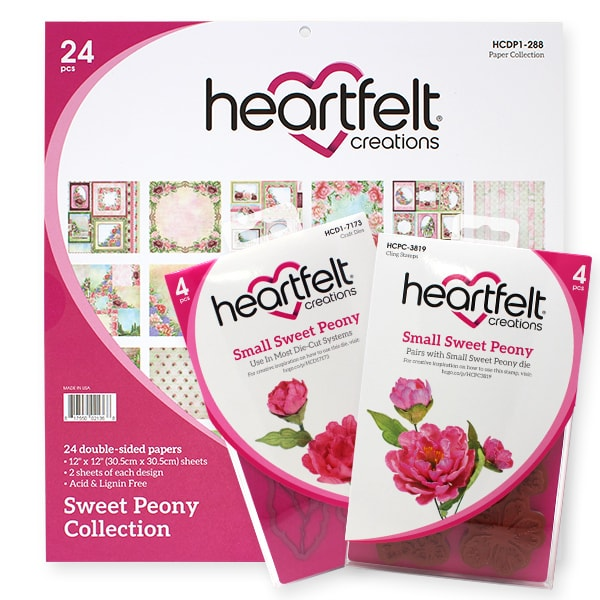 Sweet Peony Collection by Heartfelt Creations   Creative Scrapbooker Magazine Giveaway