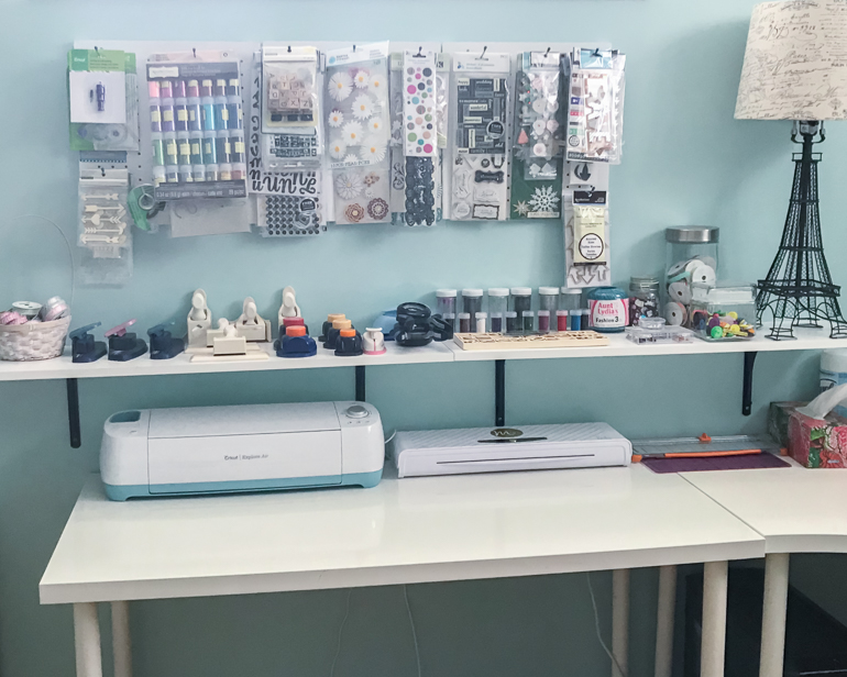 Where You Create / Hello Christine Beaudry / Organized Scrapbooking Space / Creative Space