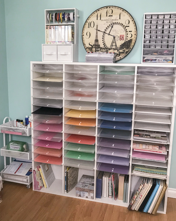 Where You Create / Hello Christine Beaudry / Creative Space / Scrapbooking / Organizing